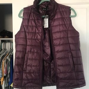 Puffer Vest - Purple // Never worn, new with tags